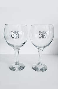 2 Think Gin Balloon Glasses