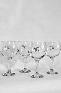 Branded Think Gin Balloon Glasses