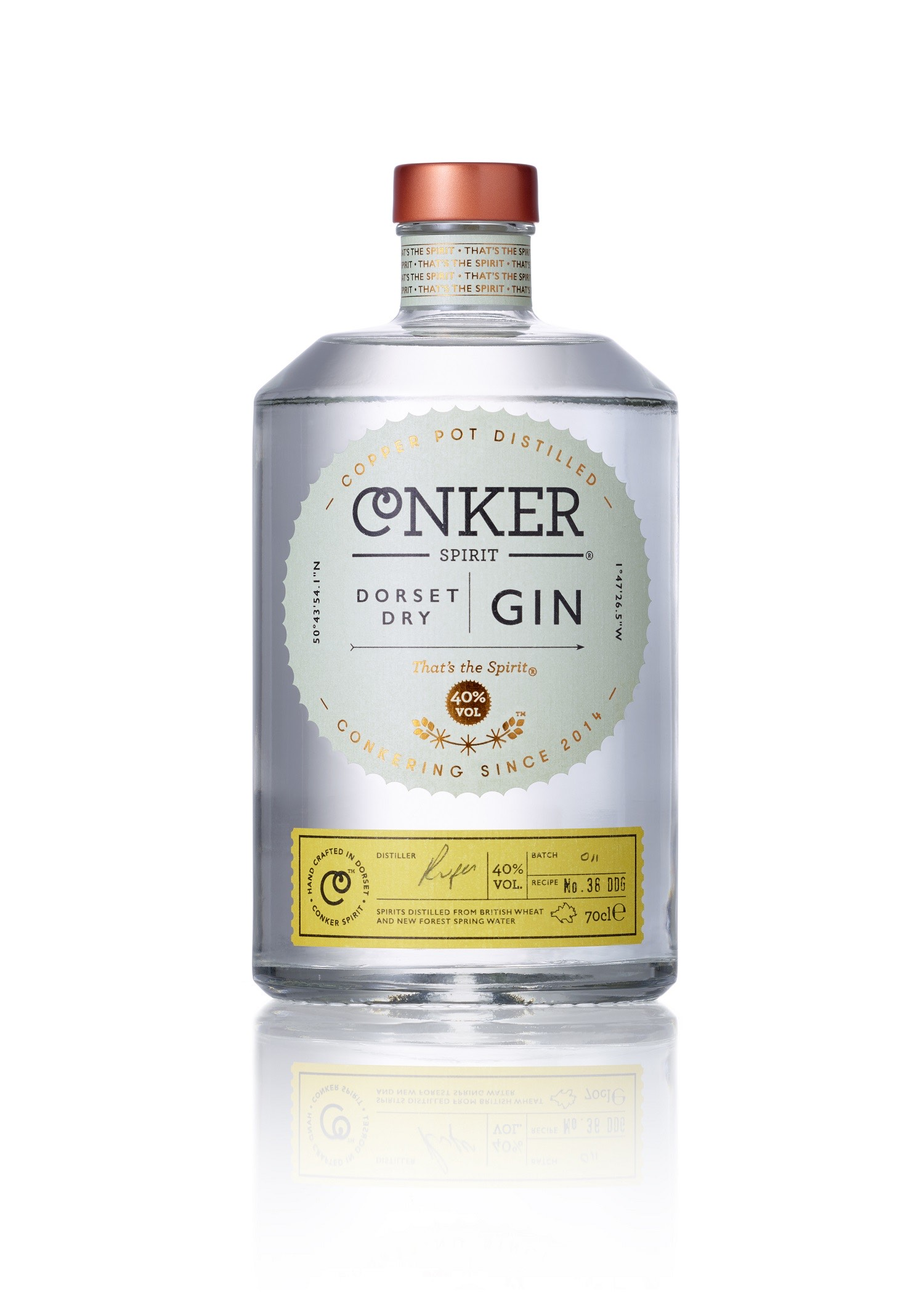 Small Batch Gins, Conker Spirit Gin, Artisan Gin