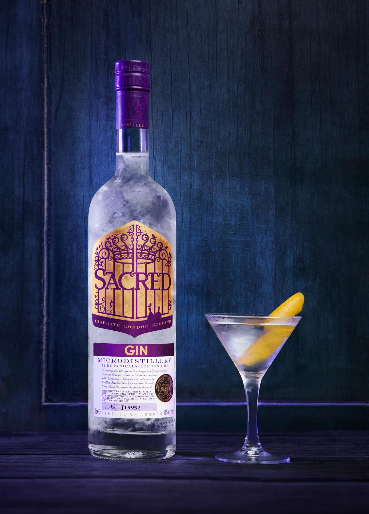 Sacred gin, artisan gin, gin club