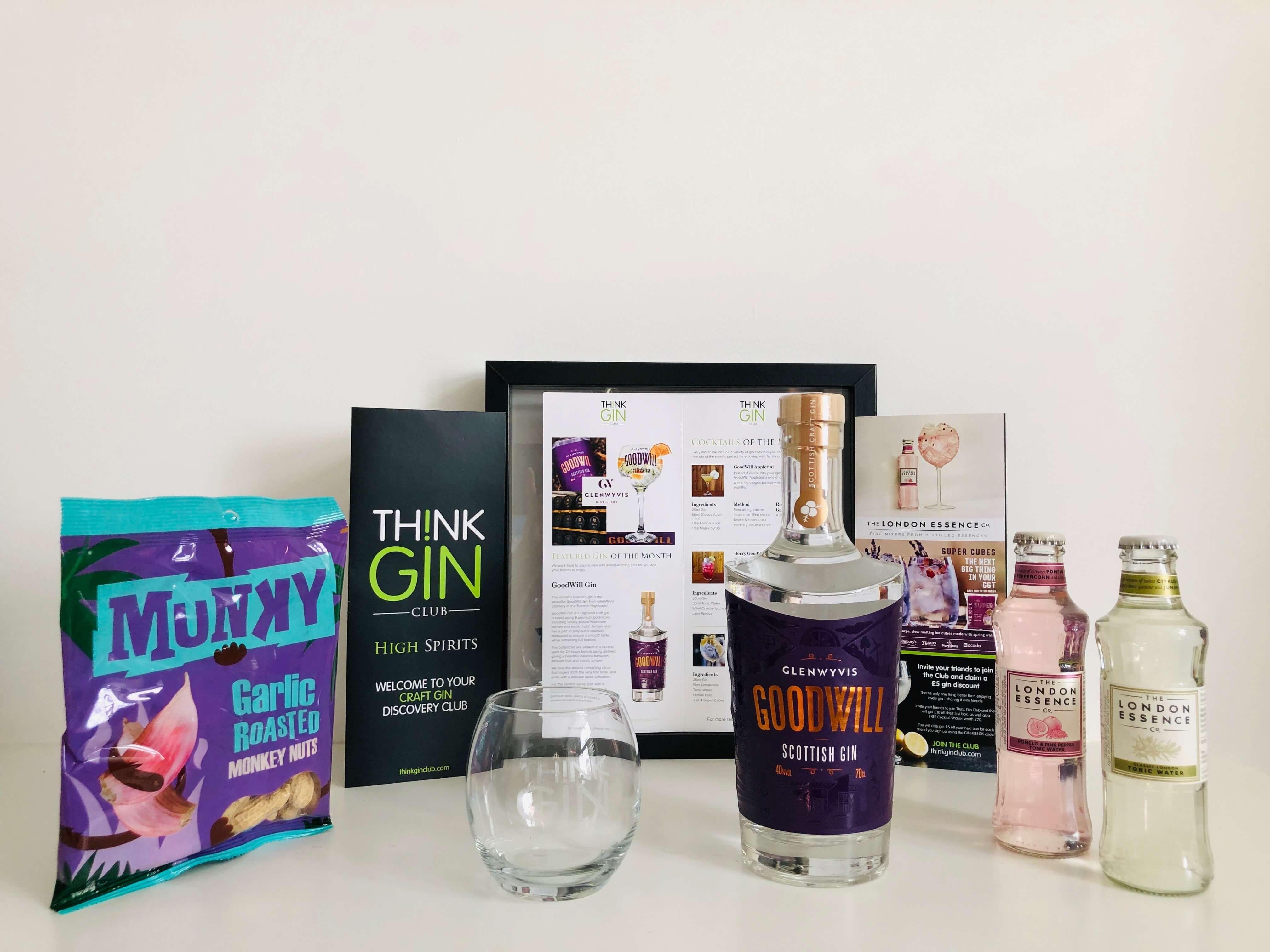 Goodwill Gin, Artisan Gin Club, Monthly Gin